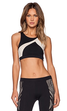 SOLOW Racer Sports Bra in Black & Blush