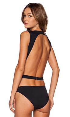SOLOW Minimalist Bodysuit in Black