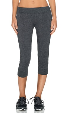 SOLOW French Terry Capri Pant in Grey