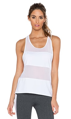 SOLOW Jersey Mesh Tank in White