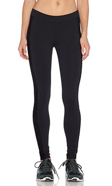 SOLOW Lace Cut Out Capri Pant in Black