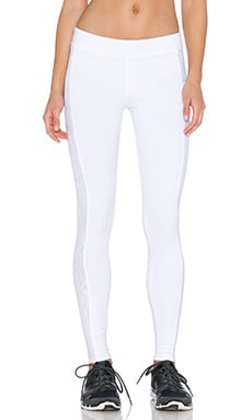 SOLOW Lace Cut Out Capri Pant in White