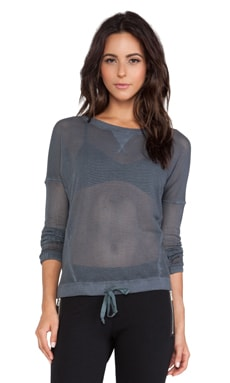 So Low Mesh Sweatshirt in Black