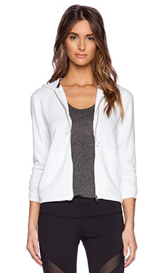 SOLOW Elbow Patch Hoodie in White
