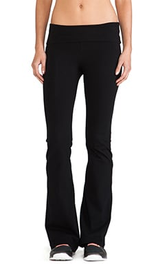 SOLOW Basics Fold Over Pant in Black