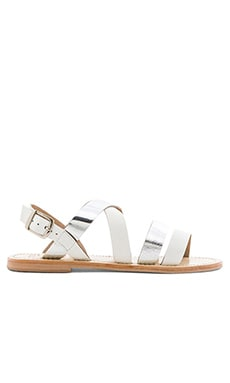 SOLES X NUDE Warlander Sandal in Silver & White