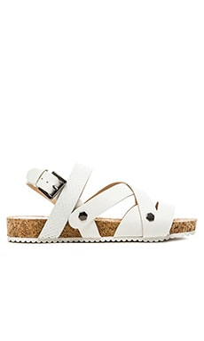 SOLES Columbia Sandal in White