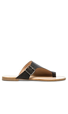 SOLES X NUDE Ponyfish Sandal in Black
