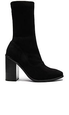 Chloe Boot in Black Suede & Black Heel