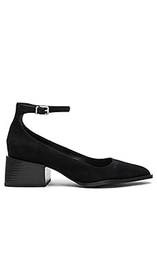 Donna Mary Jane in Black Suede