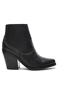 Zoe Boot in Black & Studs
