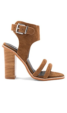 Tiki Heel in Tan Suede