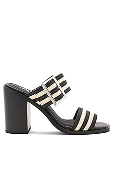 Silvia Mule in Striped Jute