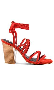 Layla Heel in Flame Suede