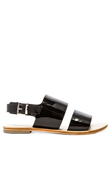 Sol Sana Alice Sandal in Patent Black