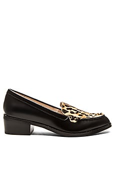 Sol Sana Dillian Cow Hair Loafer in Black & Snow Leopard