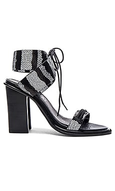 Sol Sana Chuck II Heel in Black & White Snake
