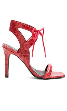 Denver Heel in Scarlet Croc