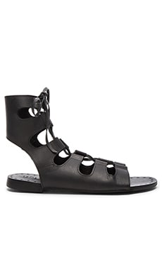 Tay Sandal in Distressed Black