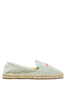 Flamingo Embroidered Espadrille Soludos $65 BEST SELLER