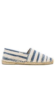 Soludos Painted Stripe Jute Espadrille in Natural Navy