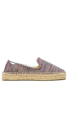 Soludos Platform Espadrille in Union Jack Red & Blue