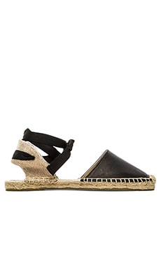Soludos Classic Leather Sandal in Black
