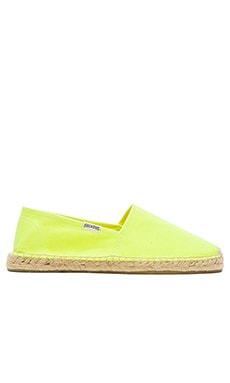 Soludos Original Dali Espadrille in Neon Yellow