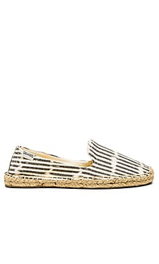 Soludos Ikat Espadrille in Black & White