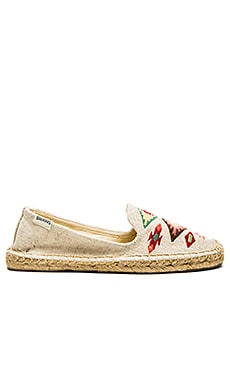Soludos Thunder Bird Embroidered Espadrille in Sand