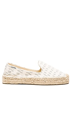 Soludos Platform Smoking Slipper Ikat in Daybreak Natural