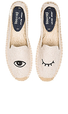 Wink Embroidery SM Slipper Soludos $75 BEST SELLER
