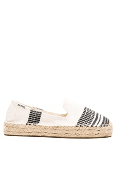Soludos x lemlem Muna Platform Smoking Slipper in White & Black