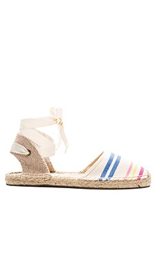 Candy Stripe Classic Sandal in White Multi