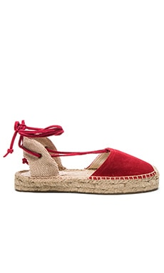 Platform Gladiator Sandal en Chili Red