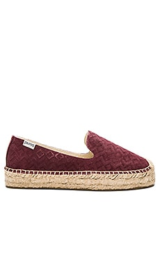 Soludos Platfrom Smoking Slipper in Wine