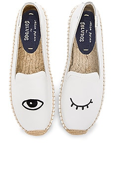 Embroidered Platform Smoking Slipper – 白色