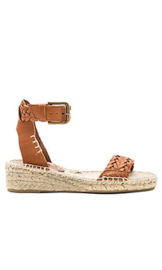 Woven Demi Wedge Sandal in Camel