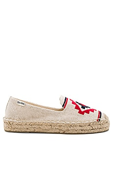 Embroidered Platform Smoking Slipper