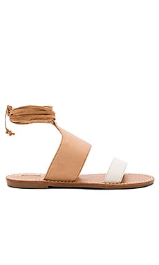 Color Blocked Sandal in Ivory & Nude