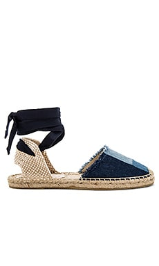 Patchwork Classic Sandal in Denim