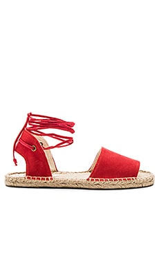 Balearic Tie Up Sandal in Fire Red