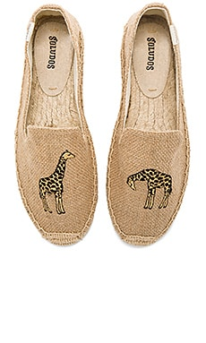 Giraffe Smoking Slipper in Natural