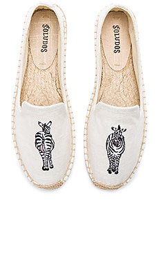 Zebra Smoking Slipper in White
