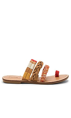 Multi Bracelet Sandal in Vachetta Red Multi