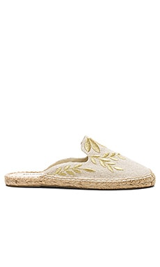 Embroidered Floral Mule Soludos $75