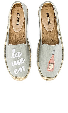 La Vie En Rose Smoking Slipper Soludos $85