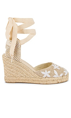 Floral Classic Wedge Soludos $109