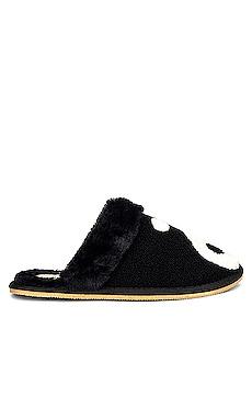 Yin Yang Cozy Faux Fur Slipper Soludos $85
