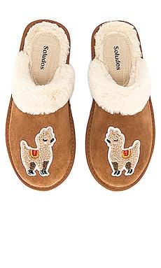 Llama Cozy Faux Fur Slipper Soludos $85